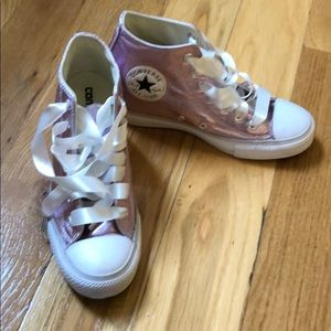 Women's Converse wedge high top sneakers- Bridal